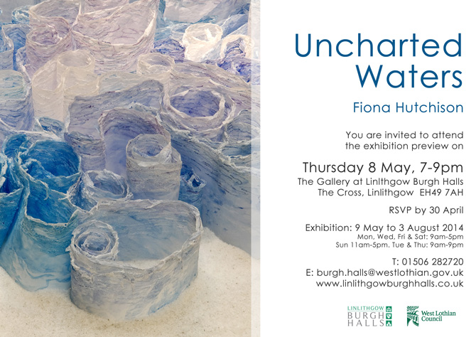 Uncharted Waters. Solo Exhibition, Burgh Hall Gallery, Linlithgow