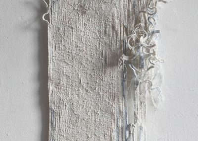 Fiona Hutchison, A Line of Water - Woven tapestry, 186cm x 40cm, 2014. For sale