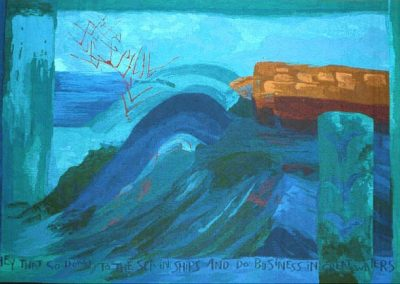 Great Waters - Peterhead Community Hospital, Woven Tapestry 250cm x 153cm, 1994.