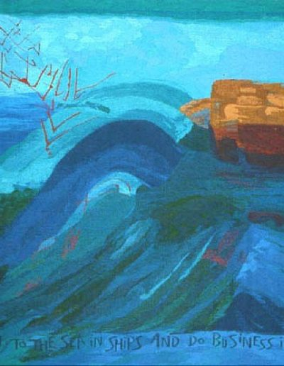 Fiona Hutchison's Commissions, Great Waters - Peterhead Community Hospital, Woven Tapestry 250cm x 153cm, 1994