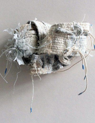 Fiona Hutchison, Knot II - Experiments in 3D weaving. 15cm x 8cm.