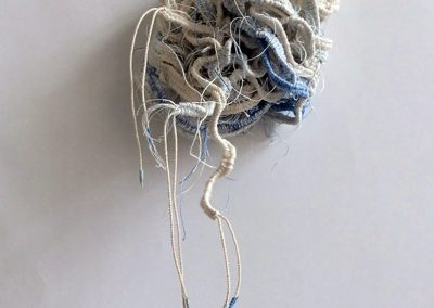 Fiona Hutchison, Knot I - Experiments in 3D weaving. 10cmx10cm. For sale