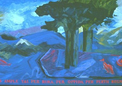 Transis Ample Tai (Go on great Tay) - Perth Royal Infirmary, Woven Tapestry 300cm x 158cm, 1992.