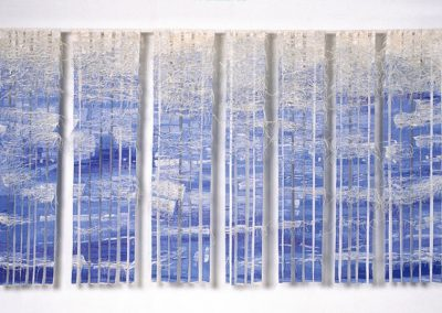 Fiona Hutchison, How Calm the Wild Water - Woven Tapestry, 320cm x 190cm, 2005. For sale