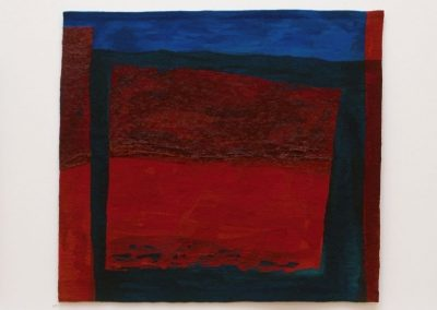 Fiona Hutchison, Tide Line – Woven tapestry, 240cm x 189cm, 1998. For sale
