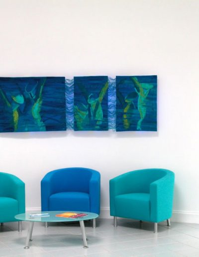 Fiona Hutchison's Commissions, We Aspire to Win - Woven Tapestry, 2002. Scottish Institute of Sport.