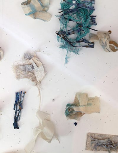 Fiona Hutchison, Exploring knots in weave, paper and recycled material, 2018.