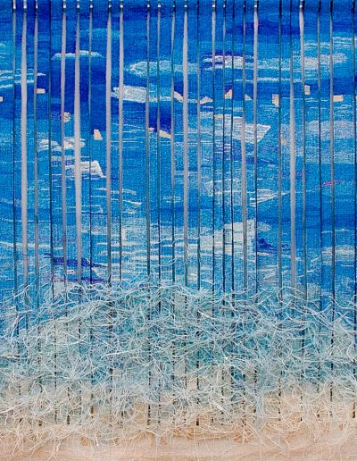 Fiona Hutchison, Where Two Tides Meet - Woven Tapestry