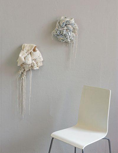 Fiona Hutchison, Sea Knots, 2019, Woven, tapestry, 35cm x 35cm x 10cm