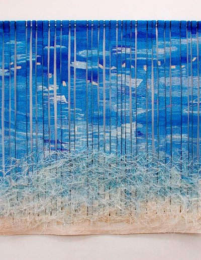 Where Two Tides Meet, 2005, Woven Tapestry, 113cm x 120cm, (private collection)