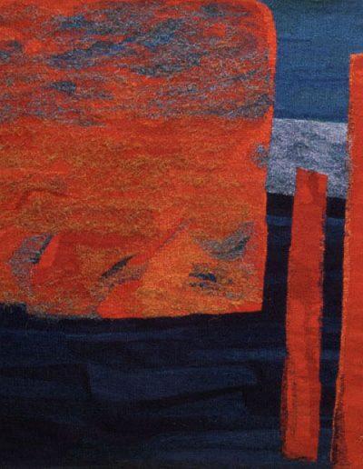 Harbour Pillars, 1999, Woven Tapestry, 210cm x 120cm
