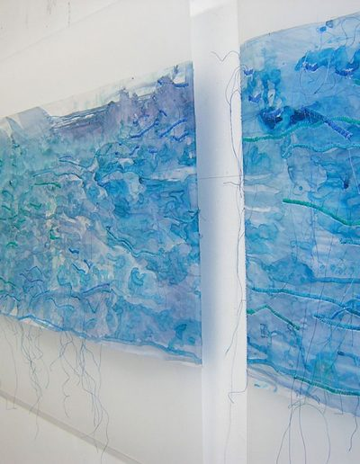 North Sea Paper, 2008, Painted and stitched paper